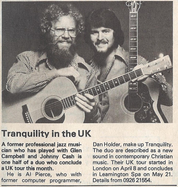 News clipping published in the UK announcing Tranquility's European tour