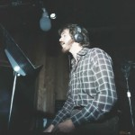 Dan Holder recording lead and backup vocals